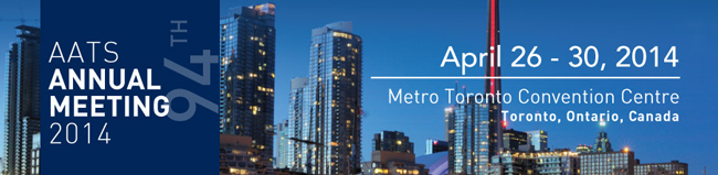 American Association for Thoracic Surgery 2014 Annual Meeting