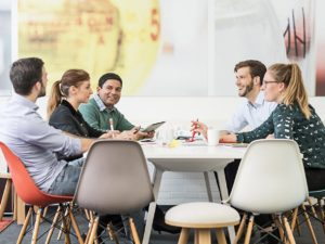 MedSpark creative team meeting